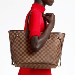 Louis Vuitton Neverfull MM Damier Ebene Cherry Red